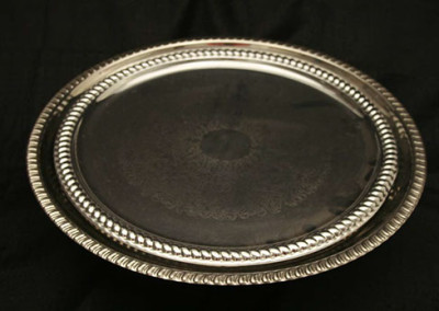 """Tray 16"""" rd Silverplate $4.50"""