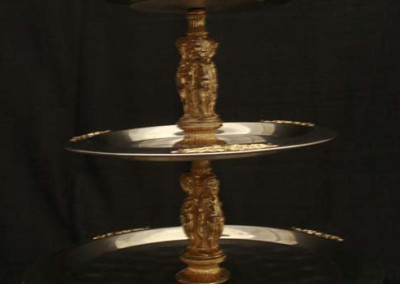 Gold Trim 3 tier $20.00