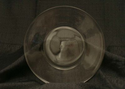 "Clear Plate 7"" $0.40"