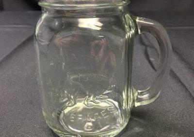 Mason Jar Glass with Handle